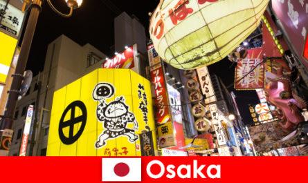 Arta divertismentului comic este întotdeauna tema principală pentru străinii din Osaka