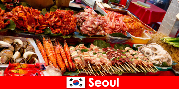 Seul, de asemenea, celebru printre călători pentru produsele alimentare stradale delicioase și creative