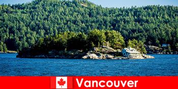 Pentru turistii straini o odihnă și cufunda-te în peisajul natural frumos din Vancouver, în Canada