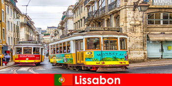 Străzi istorice din Lisabona Portugalia, cu un dram de nostalgie pentru călătorii culturale