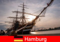 Germania Coboară în portul Hamburg la piața de pește pentru gurmanzii de turism