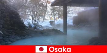 Osaka Japonia oferă oaspeților spa scăldat în izvoare termale